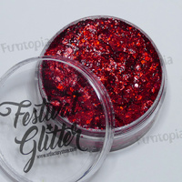 Art Factory Festival Glitter Gel 50ml Jar- Cherry Bomb
