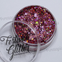Art Factory Festival Glitter Gel 50ml Jar- Flirt