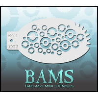 BAM Bad Ass Mini Stencil - 1022