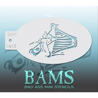 BAM Bad Ass Mini Stencil - 1413