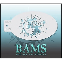 BAM Bad Ass Mini Stencil - 1415
