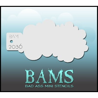 BAM Bad Ass Mini Stencil - 2036