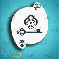 Diva Stencil 1029 - Valentine's Locket Key