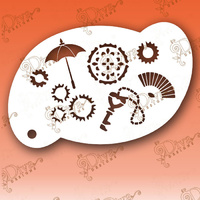 Diva Stencil 069 - Steampunk Elements 2