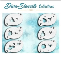 Diva Stencil 901 Mad Bird Collection - Set of 6 stencils
