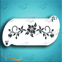 Diva Stencil 927 - Flower and Vines Forehead Band