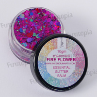 Essential Glitter Balm Chunky 10g - Fire Flower by Incendium Arts