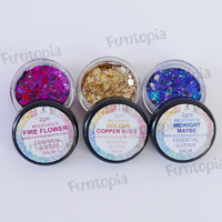 Essential Glitter Balm Sampler No. 4 - Includes 3 x 2g Jars - Midnight Maybe, Golden Copper Rose & Fire Flower