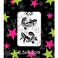 Glitter & Ghouls Whales Stencil GG20