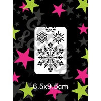 Glitter & Ghouls Snowflake Princess Stencil GG61