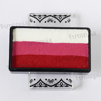 Global Colours 25g One Stroke Ruby Rose -  Magnetic Container