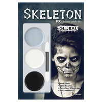 Global Colours Face Painting Kit - Skeleton