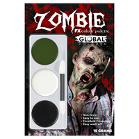 Global Colours Face Painting Kit - Zombie