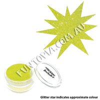 Global Colours Neon Yellow Cosmetic Glitter