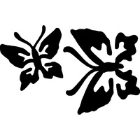TAG Double Butterfly Stencil No. 37 - 5 pack