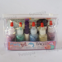 TAG Glitter Tattoo Kit - Party (mixed stencil selection)