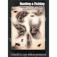 Wiser Tattoo Pro Stencil - Hunting & Fishing